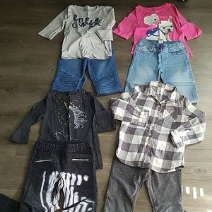 Girl's bundle of 4 complete outfits